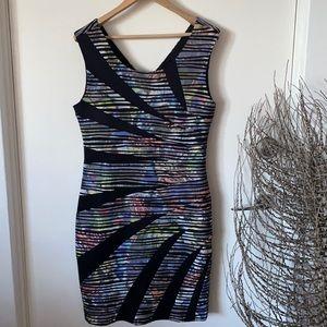 Caroline Morgan Womens Dress Bodycon AU 14 Knee length Polyester Pre Owned EC